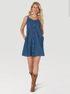 Wrangler Retro Indigo Stripe Tank Dress