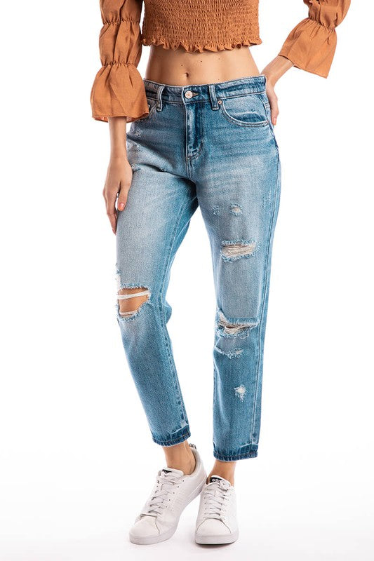 The Taylor High Rise Boyfriend Jeans