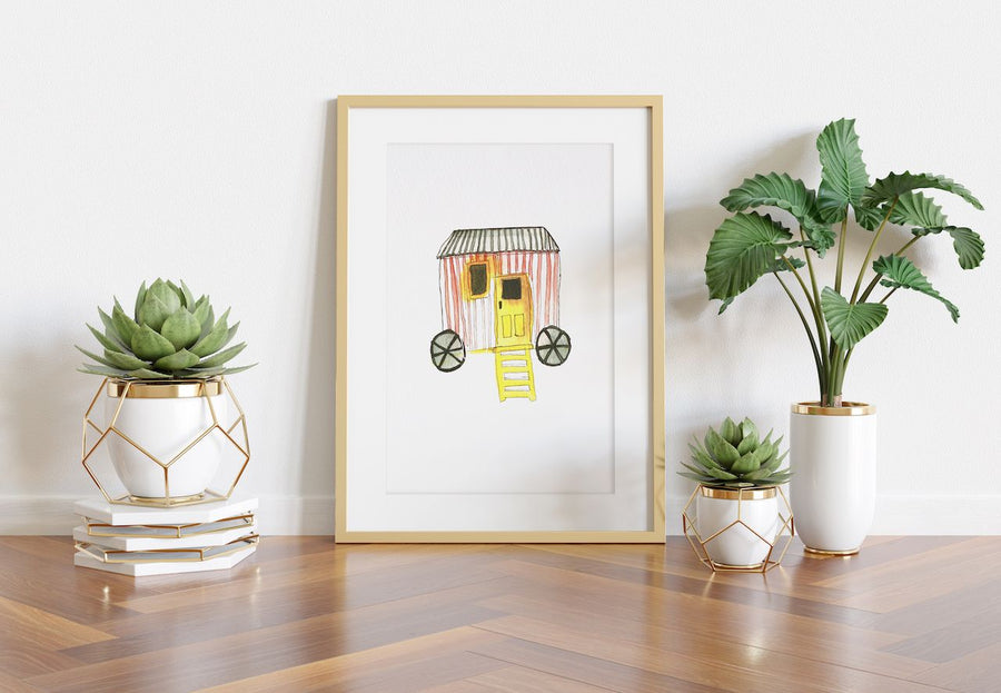 Playful Nursery Wall Art, Unisex baby art, watercolor art for babies, circus cart wall art, baby wall decor, baby shower gifts, expectant mothers gifts, kids art