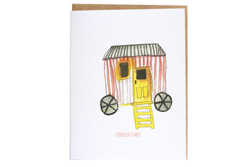 Fun Greeting Cards, Fun House Circus Cart Greeting Card, Watercolor Art Card, Pink House Greeting Card, Stationery Lovers, kids card, cute birthday cards, Paper & Party Supplies