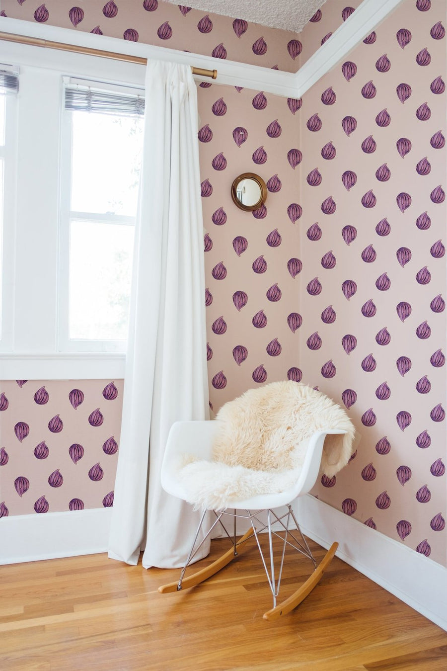 pink wallpaper, pink fig wallpaper, pink girls room wallpaper, easy wallpaper, peel and stick wallpaper, figs, fig wallpaper, watercolor wallpaper, nursery wallpaper, baby room decor, fig plant wallpaper, blush wallpaper, purple fig wallpaper, mauve wallpaper