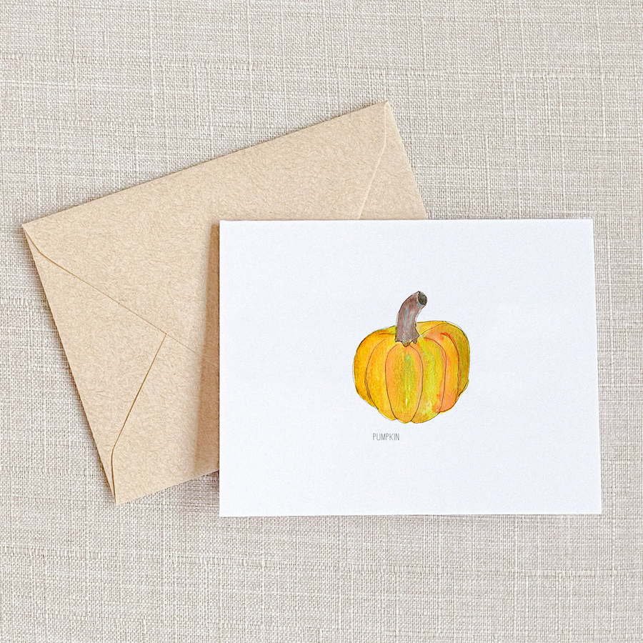 Thanksgiving greeting card, thanksgiving card, holiday card, playful cards, pumpkin greeting card, watercolor greeting cards,