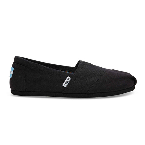 TOMS Black On Black Women's Canvas Classics Shoes