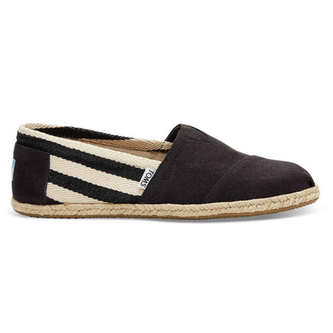 TOMS Black Stripe University Men's Classic Shoes