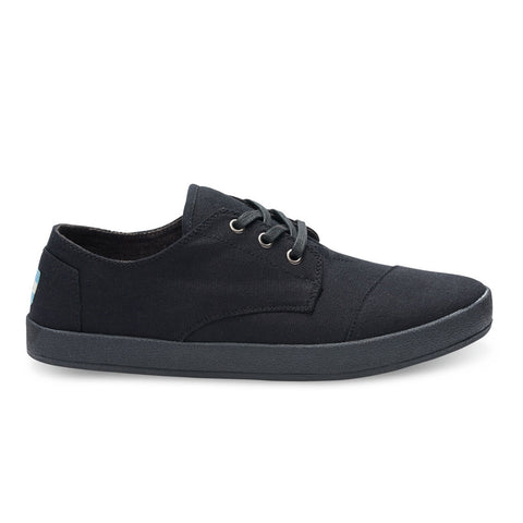 TOMS Black On Black Canvas Men's Paseo Sneakers