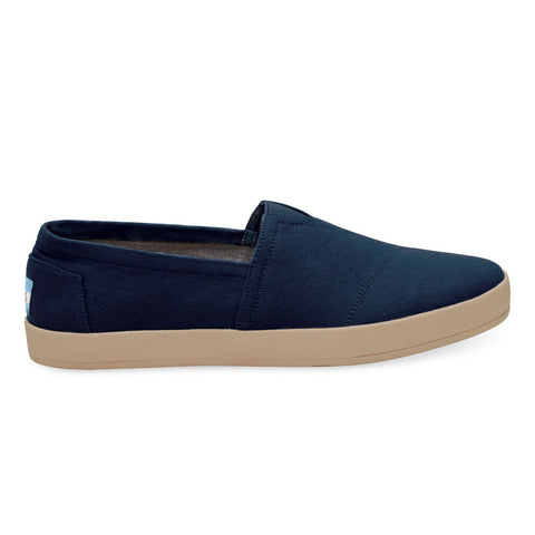 TOMS Navy Canvas Men's Avalon Slip-Ons