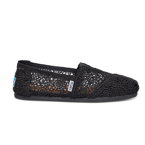 TOMS Black Moroccan Crochet Women's Classics Shoes