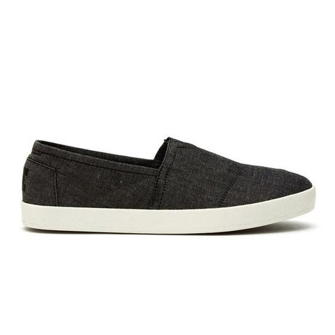 TOMS Black Chambray Men's Avalon Slip-Ons