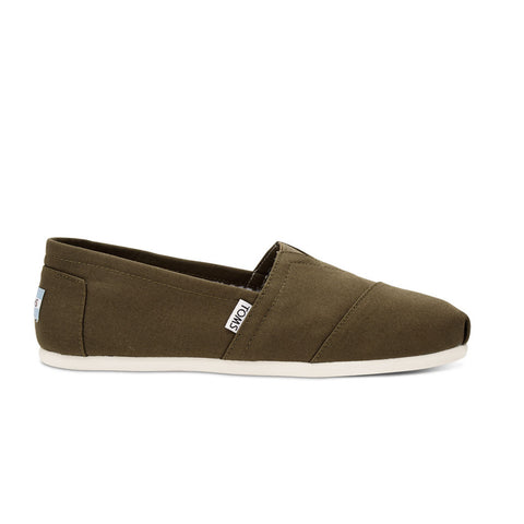 TOMS Military Olive Canvas Men's Classics Shose