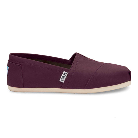 TOMS Red Mahogany Canvas Women's Classics