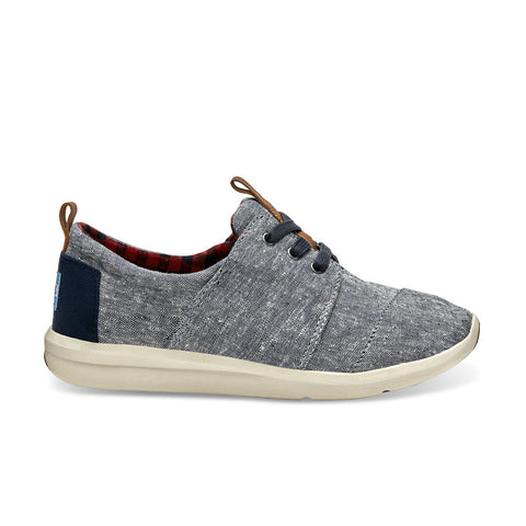 TOMS Blue Chambray Women's Del Rey Sneakers
