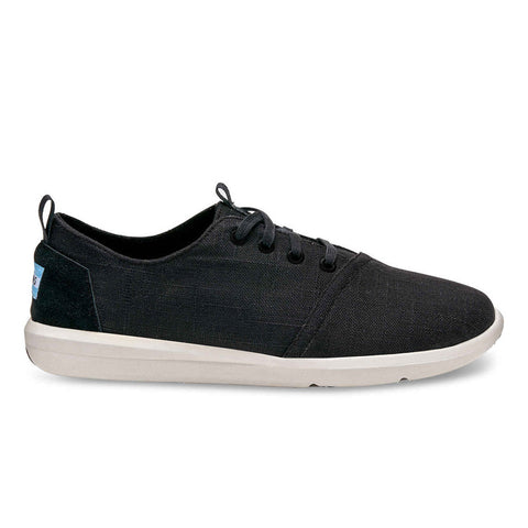 TOMS Black Linen Men's Del Rey Sneakers