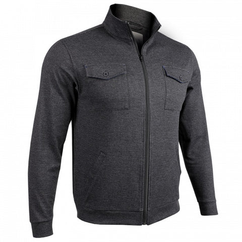 2UNDR 2-Pocket Zip Men's Jacket Black/Grey