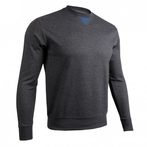 2UNDR Long Sleeve Crew Men's Pullover Black/Grey
