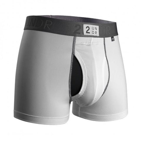 2UNDR Power Shift Trunk 2.0 Men's Underwear White - Koala Logic