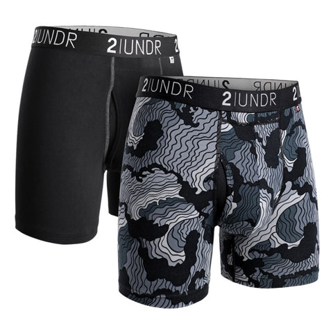 2UNDR Swing Shift Men's Underwear 2-Pack Black/Tsunami