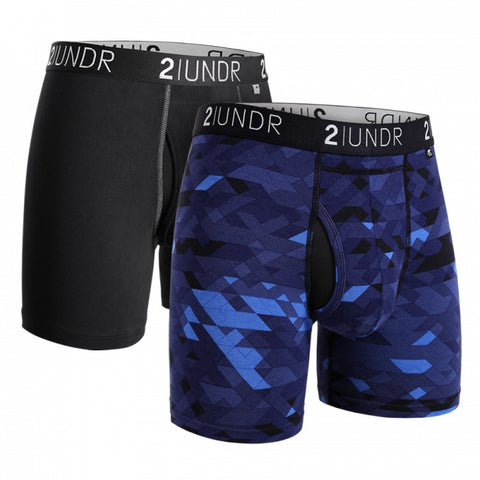 2UNDR Swing Shift Men's Underwear 2-Pack Black/Geode