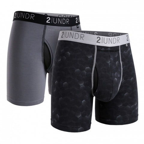 2UNDR Swing Shift Men's Underwear 2-Pack Grey/Hexadot