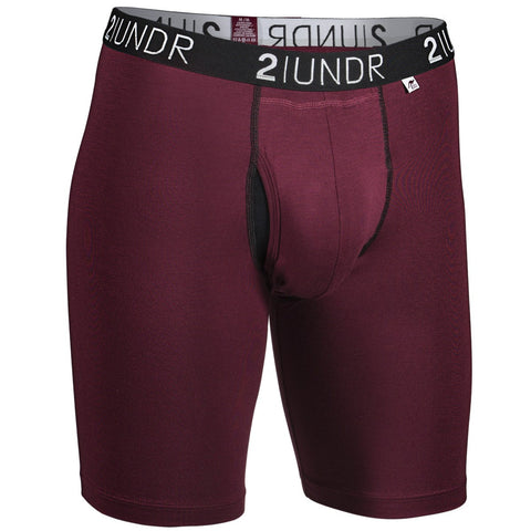2UNDR Swing Shift Long Leg Men's Underwear Burgundy