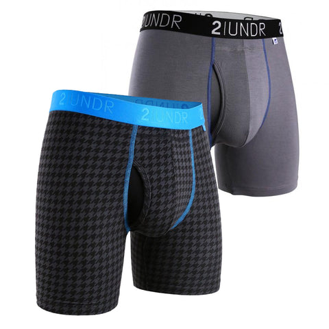 2UNDR Swing Shift Men's Underwear 2-Pack Grey/Dog Tooth