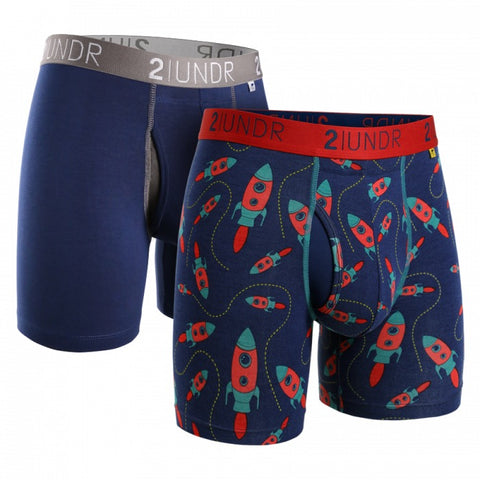 2UNDR Swing Shift Men's Underwear 2-Pack Navy/Rockets