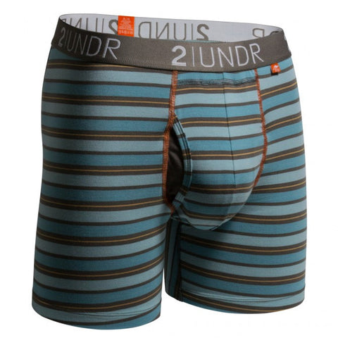 2UNDR Swing Shift Men's Underwear Blue/Orange Stripes