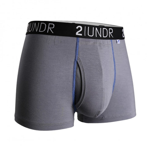 2UNDR Swing Shift Trunk Men's Underwear Grey/Blue