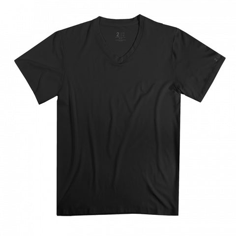 2UNDR V-Neck Men's T-Shirt Black