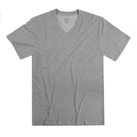 2UNDR V-Neck Men's T-Shirt Grey