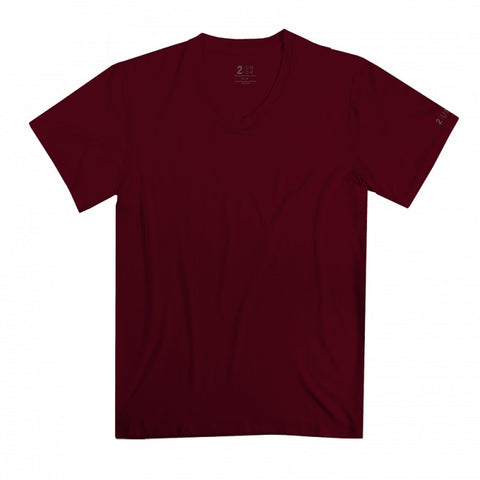 2UNDR V-Neck Men's T-Shirt Merlot