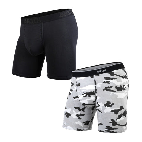 BN3TH Classics Boxer Brief Men's Underwear 2-Pack Black/Camo Snow