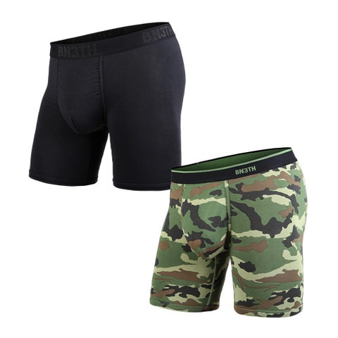 BN3TH Classics Boxer Brief Men's Underwear 2-Pack Black/Camo
