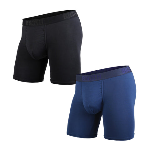 BN3TH Classics Boxer Brief Men's Underwear 2-Pack Black/Navy