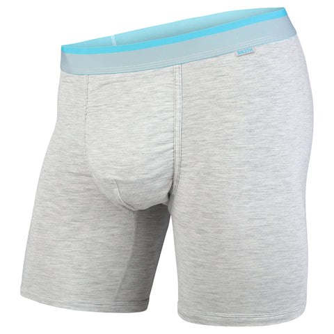 BN3TH Classics Boxer Brief Men's Underwear Grey Heather/Turquoise