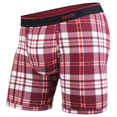 BN3TH Classics Boxer Brief Men's Underwear No Plaid Days Wine