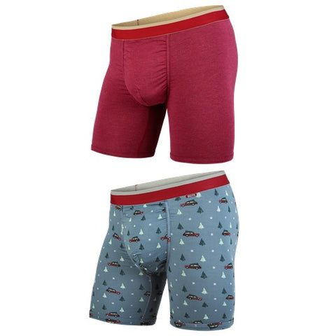 BN3TH Classics Boxer Brief Men's Underwear 2-Pack Holidays Crimson