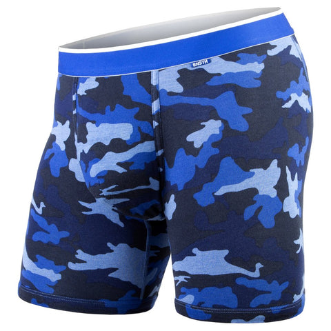 BN3TH Classics Boxer Brief Men's Underwear Heather Camo/Blue