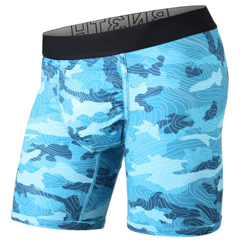 BN3TH Entourage Boxer Brief Men's Underwear Topo Camo Teal