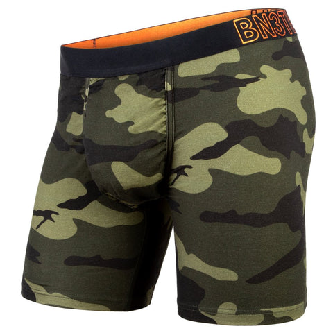 BN3TH Merino Wool Boxer Brief Men's Underwear Spruce Green Camo