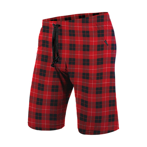 BN3TH Sleepwear Shorts Unisex PJs Fireside Plaid Red