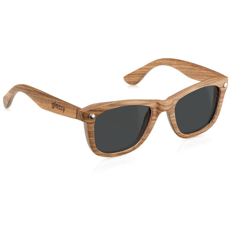 Glassy Sunhaters Marc Johnson Polarized Wood Sunglasses