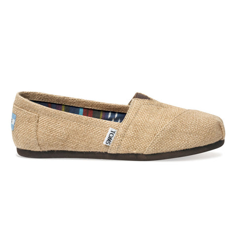 TOMS Natural Burlap Men's Classics Shoes