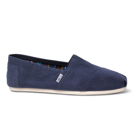 TOMS Navy Canvas Men's Classics Shoes