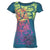 Nomis Diamond Scribble Women's Tee - Deep Lake / S - Koala Logic - 4