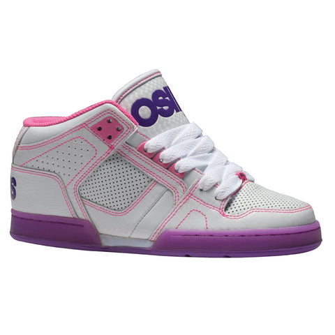 Osiris NYC 83 Mid Women's Shoes Wht/Pur/Pnk