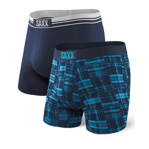 SAXX Vibe Boxer Men's Underwear 2-Pack Plaid