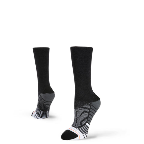 STANCE Shiny Black Crew Women's Socks