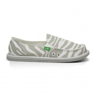 Sanuk I'm Game Women's Sidewalk Surfers - Zebra Grey / 6 - Koala Logic - 1