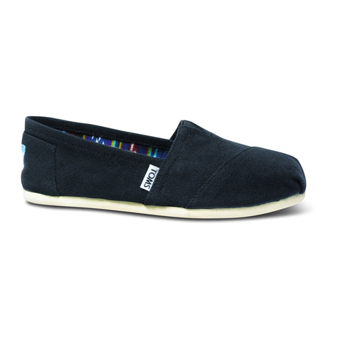 TOMS Black Canvas Women's Classics Shoes