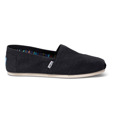 TOMS Black Canvas Men's Classics Shoes